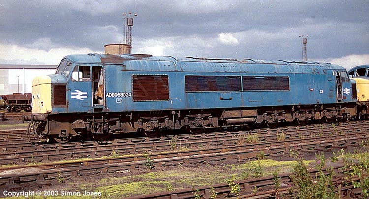 Photo of ADB 968024 at Tinsley yard